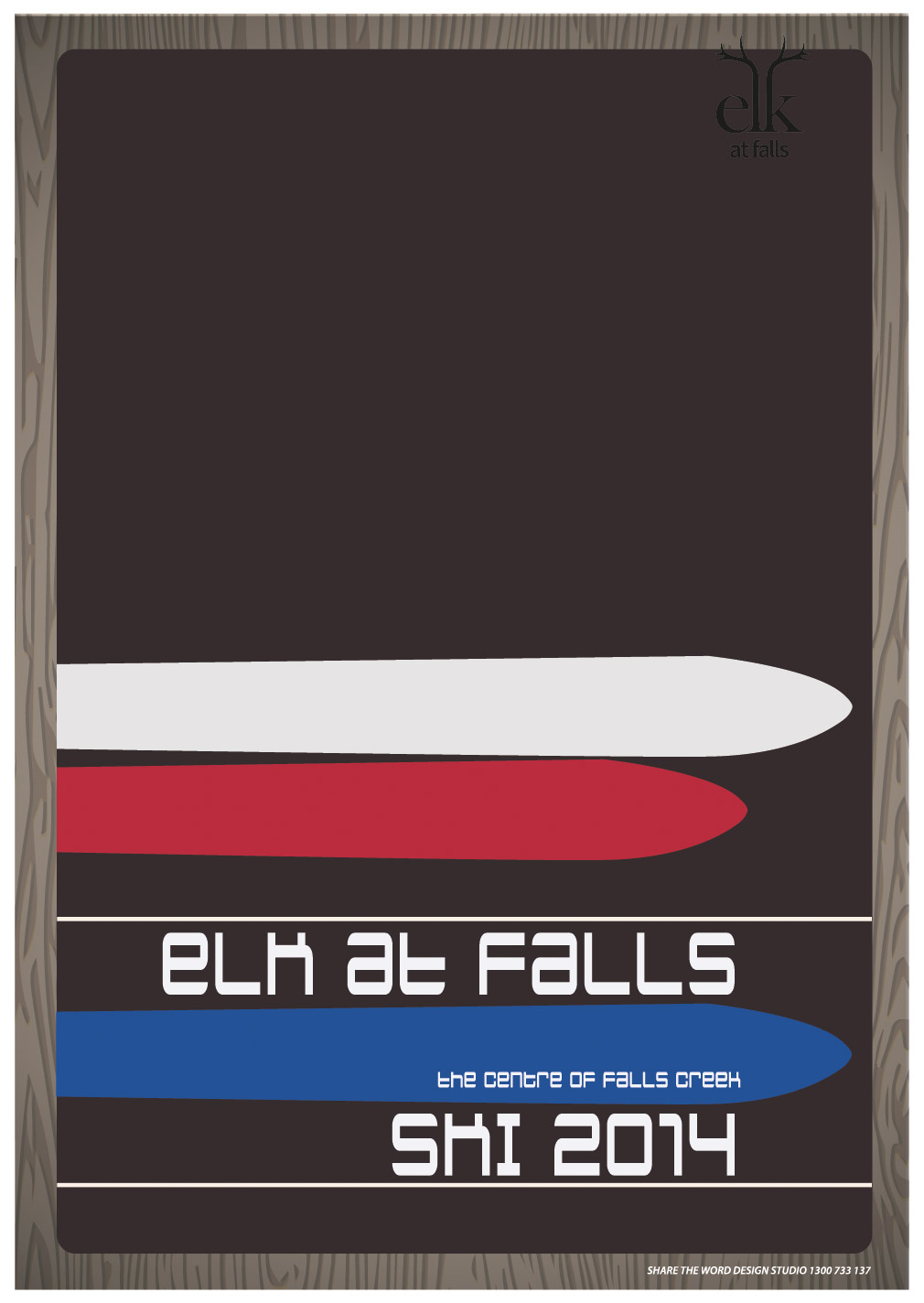Elk at falls poster marketing 2014