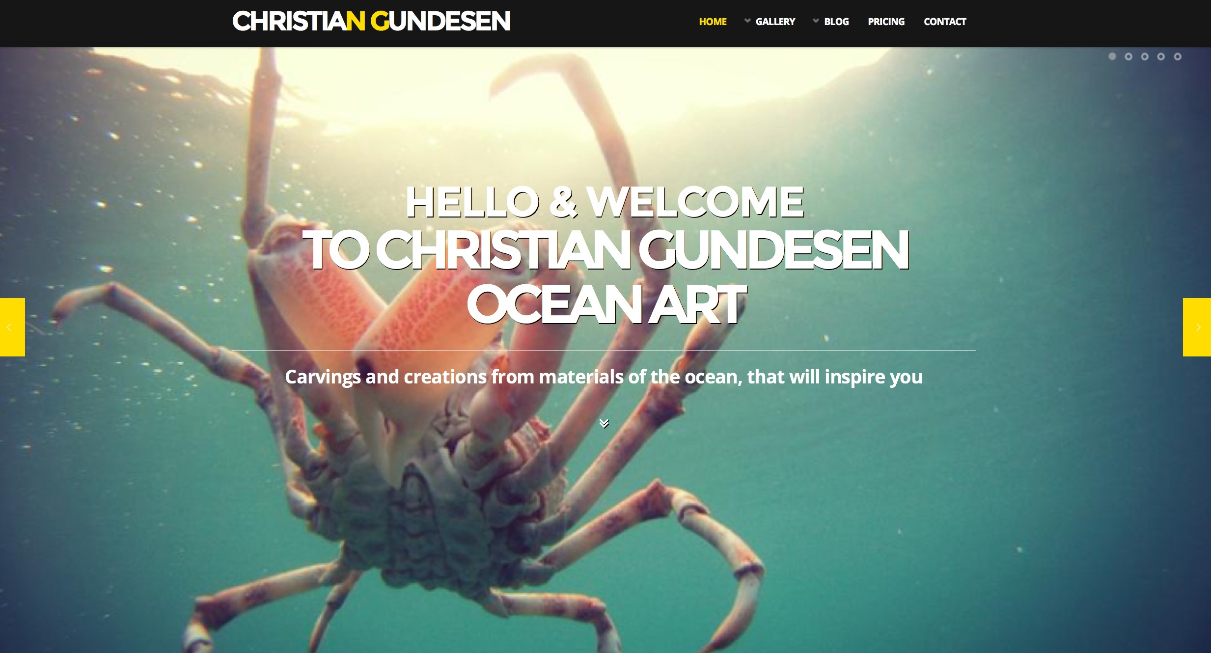 Christian Gundesen Ocean Art Website